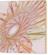 Pastel Spiral Flower Wood Print