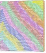 Pastel Stripes Angled Wood Print