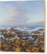 Pastel Tone Seaside Sunrise Wood Print