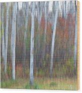 Pastel Tree Abstract Wood Print