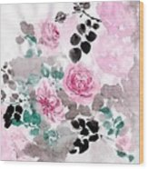 Pastel Water-healing Roses -24 Wood Print