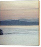 Pastel Water Wood Print