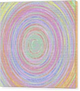 Pastel Whirlpool Wood Print