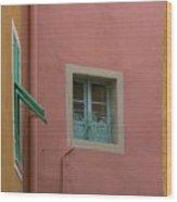 Pastel Windows Wood Print