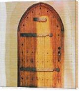 Pastel Wooden Door Wood Print
