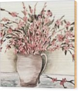 Pastels In Clay Pot Wood Print