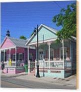 Pastels Of Key West Wood Print