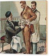 Pasteur Inoculating Man With Rabies Wood Print