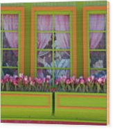 Pastle Windows Wood Print