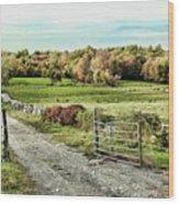 Pastoral Scene Wood Print