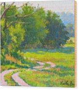 Pasture Road Wood Print