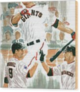 Pat Burrell Study 2 Wood Print by George  Brooks