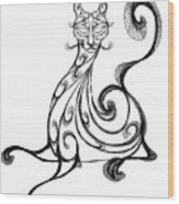 Pat Cat Wood Print