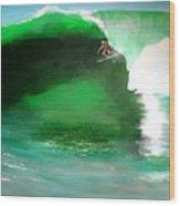 Pat Connor Leaving Church K55 Baja Wood Print