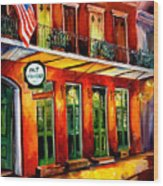 Pat O Briens Bar Wood Print