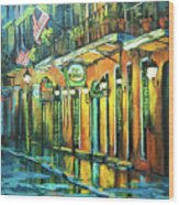 Pat O Briens Wood Print
