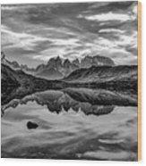 Patagonia Lake Reflection #2 - Chile Wood Print