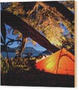 Patagonia Landscape Camping Wood Print