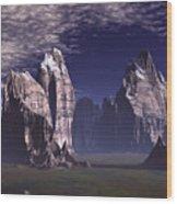 Patagonian Mountain  Wood Print