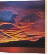 Patagonian Sunrise Wood Print