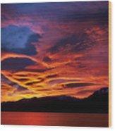 Patagonian Sunrise Wood Print