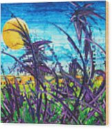 Patch Of Field Grass Wood Print