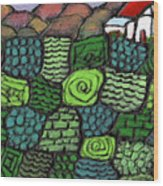 Patches Of Green Wood Print