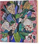 Patchwork Bouquet Wood Print