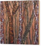 Patchwork Forest Wood Print