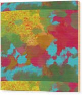Patchwork Landscape Wood Print