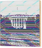Patchwork White House Wood Print