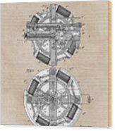 patent art Edison 1888 Phonograph Wood Print