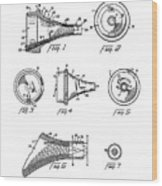 Patent Drawing For The 1962 Illuminating Means For Medical Instruments By W. C. More Etal Wood Print