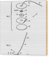 Patent Drawing For The 1966 Biomedical Instrumentation Electrode By R. E. Manson Wood Print