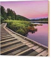 Path By The Lake Wood Print