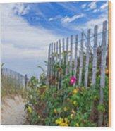 Path Through The Dunes Wood Print