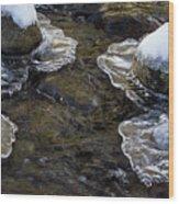 Path Through The Ice Wood Print