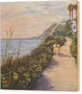 Path To Bacara , With Golden  Wood Print