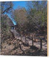 Path To Baobab Lodge Wood Print
