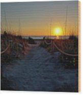 Path To Beach Wood Print