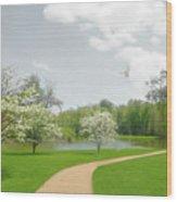 Path To Heart Wood Print