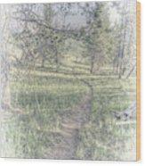 Path To Life Is Narrow Wood Print