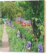 Path To Monet's House Wood Print
