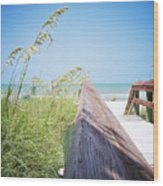 Path To Relaxation Vanilla Pop Wood Print