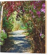 Path To The Gardens Wood Print