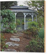 Path To The Gazebo Wood Print