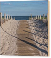 Pathway To Beach Seaside New Jersey Wood Print