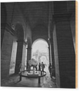 Pathway To History In Rome Wood Print