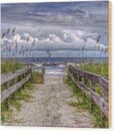 Pathway To Paradise Wood Print