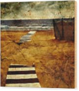 Pathway To The Sea II Wood Print